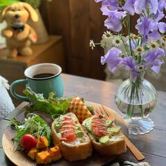 花のあるくらし/朝食/ワンプレート/朝ごはん/朝ごパン/リミアな暮らし/... 2020.2.28 金曜日 今日の朝ごパ…(2枚目)