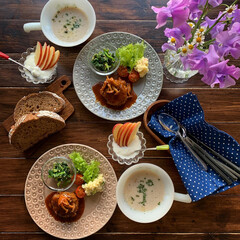 ファイヤーキング/ナチュラルキッチン/昼食/ランチ/ハンバーグ/おうちカフェごはん/... 2020.2.24 月曜日 今日のお昼ご…