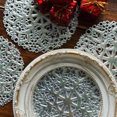 クリスマスディスプレイ/クリスマスインテリア/クリスマス/棚/リビング/セリア/... 年々地味になっていく 我が家のクリスマ…(2枚目)