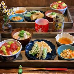 漬け丼/天ぷら/手料理/家庭料理/LIMIAごはんクラブ/夕飯/... 2020.4.22 水曜日 今日の晩御飯…