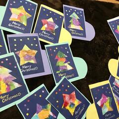 クリスマス/和紙 子どもたちと一緒に作りました