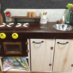 DIY/おままごとキッチン 私が色々作るきっかけになったと言っても良…