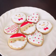 クリスマス/アイシングクッキー/手作り 今日はクリスマス🎄夜は姪っ子たちとパーテ…