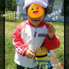 ミニオンバッグ/サンリオ帽子/公園遊び 6/25 newピンク帽子かぶって、ミニ…