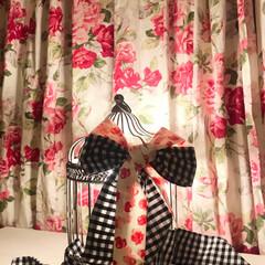 ローラアシュレイ/鳥かご/カーテン/フォロー大歓迎/DIY/ニトリ/... 鳥かごの中に電球をセットしました。 シャ…