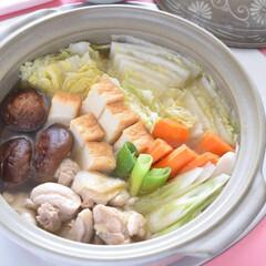 鍋/鶏鍋/土鍋/家族/アツアツ/ポン酢/... 冬はやっぱり『鍋』です!普通~の鶏鍋はシ…