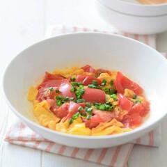簡単/レシピ/グルメ/おかず/卵/トマト/... レンチン調理を上手に使うと晩ごはん作りが…
