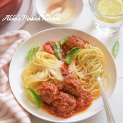 わたしのごはん/pasta/パスタ/イタリアン/バジルミートボールパスタ/ハーブ/... 初夏は旬のハーブを使ったパスタランチがお…