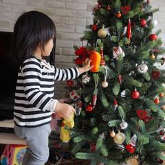 ズビズバくん/旭化成/クリスマスツリー/2歳児/オーナメント 今年買った180cmのクリスマスツリーに…