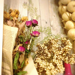 バラ/ドライフラワー/ドライ/切り花/生花/雑貨/... 簡単☆時短で作ったバラのドライフラワー🌹…
