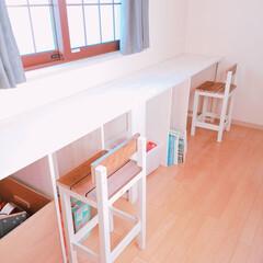 カフェ風/学習机/おうち/DIY/ハンドメイド 次男と三男の学習机を作りました🔨💥 あと…