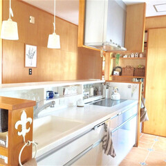 おうち/インテリア/キッチン/リセット/掃除/片づけ キッチンは朝リセット派です。帰ってきた時…