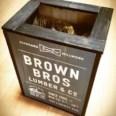 サインボード/100均アレンジ/ブルックリンスタイル/ゴミ箱/DIY/100均/... ALLセリアでブルックリンスタイルのゴミ…