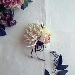 お花 フラワー/オーダーコサージュ/入園式/入学式/卒園式/卒業式/... オーダーをいただいて作ったコサージュ。 …