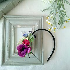 お花のアクセサリー/ハンドメイド/ファッション/ラクマ ラクマにて出品中🎵  他にもコサージュな…