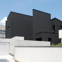 建築家/不動産・住宅/デザイナー/一戸建て 黒いボリュームの積み重ねが特徴的な住宅で…