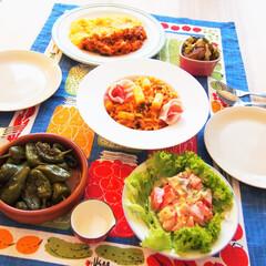 ドイツ/料理/夜ごはん/アンナのキッチン/わたしの手作り ドイツで作る夜ごはんです♪ ★ホワイトア…