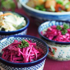 ビーツ/ドイツ/料理/作り置き/常備菜/サラダ/... ドイツではよく見かける野菜、ビーツを使っ…