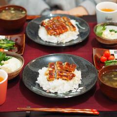 うなぎ/春菊/夜ご飯/食事情 🌙夜ごはん。 ▶︎うなぎ丼 ▶︎春菊のお…(1枚目)