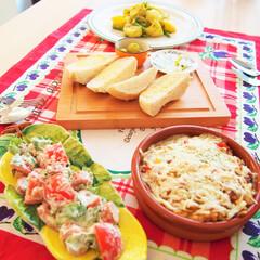 作り置き/夜ご飯/カレー/料理研究家/アンナのキッチン/わたしのごはん カレーの残りをリメイクした、チーズカレー…(1枚目)