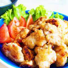 昼ご飯/料理/ドイツ/アンナのキッチン/わたしのごはん 塩麹につけた唐揚げとご飯で幸せランチ♡ …