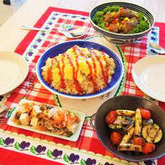 夜ご飯/ドイツ/料理/わたしの手作り ドイツで作る夜ご飯です♡ ★ふわふわ卵の…
