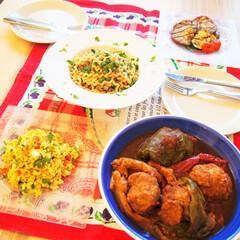 夜ご飯/料理研究家/アンナのキッチン/わたしのごはん ある日の夜ご飯です♪ ★キヌアのサラダ …