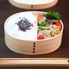 お弁当/お弁当おかず/曲げわっぱ/筑前煮 おべんとう。 ▶︎筑前煮 ▶︎赤蕪の酢漬…