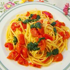 料理/ごはん/イタリアン/パスタ/料理研究家/アンナのキッチン/... ドイツで作る夜ご飯。 ミニトマトとフレッ…
