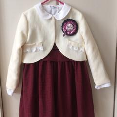 入学式/ファッション/ハンドメイド 娘の入学式の服。 売っているもので 気に…