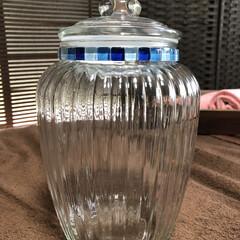 ガラスタイル/キャンディポットリメイク/花瓶/雑貨/DIY/インテリア/... DAISOさんをウロウロしてて見つけたキ…(8枚目)