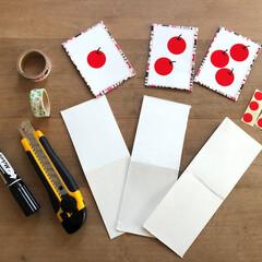 知育/知育遊び/手作りおもちゃ 牛乳パックとシールで作れる数カード。 ト…