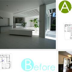 ビフォアアフター/二世帯住宅/改装/改修 改修前改修後の写真です。小さいですが平面…