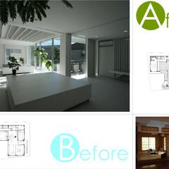 ビフォアアフター/二世帯住宅/ロフト/家具 タイル/白/改装/... 改装前改装後の写真です。