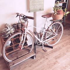 DIY/漆喰壁/漆喰/自転車/床DIY 私の大好きな自転車❤︎SOMA❤︎です。…