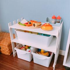 子供が使いやすい/すのこ/簡単DIY/収納/玩具/DIY 釘と金槌だけであっという間に出来ました❁…