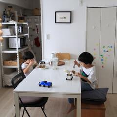 暮らし/兄弟/子育て/賃貸インテリア 2019/10/21 Mon  ごはん中…