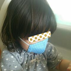コロナ対策/乳児用/幼児用/子供用/マスク/ダイソー/... 2歳半と8ヶ月の娘たちに手縫いでマスク作…(6枚目)