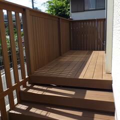 ウッドデッキ/人工デッキ材/人工木/外構/フェンス/大工/... 人工木のデッキ材でウッドデッキを製作。