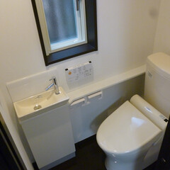 トイレ/水廻り/新築/手洗い付/ウォシュレット 50代~60代のお客様で宅内に新築を、、…