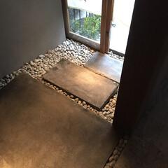 玄関/エントランス/入口/店舗/石だたみ/飛石/... 浅草にて店舗改修をしました。 飛石を作り…