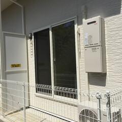 庭・ガーデニングリフォーム/新築/アパート/フェンス/メッシュ 新築アパートの1階バルコニーです。 フェ…