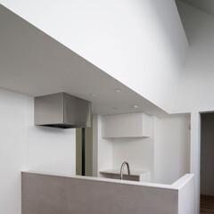 建築/住まい/建築デザイン/シンプル住宅/注文住宅 モルタル仕上げのキッチン腰壁  OUCH…