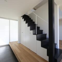 建築/住まい/建築デザイン/注文住宅/シンプル住宅 引き戸で閉めると外から見えず 日進のいえ…(1枚目)