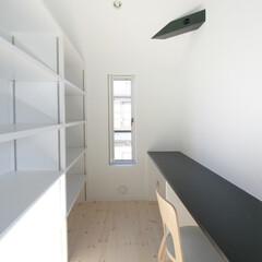 建築/住まい/建築デザイン/シンプル住宅/注文住宅 キッチン横の家事コーナー 奥様の書斎でも…
