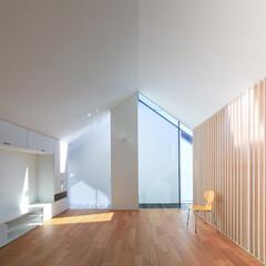 建築/住まい/建築デザイン/シンプル住宅/注文住宅 バルコニーから採光するリビング OUCH…