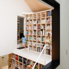 建築/住まい/シンプル住宅/注文住宅 2段式の本棚 OUCHI-26