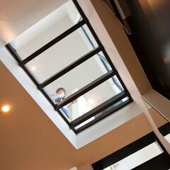 建築/住まい/建築デザイン/狭小住宅/シンプル住宅/ハコノオウチ 玄関の天井は透明床 ハコノオウチ07
