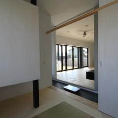 建築/住まい/建築デザイン/シンプル住宅/注文住宅 和室はリビングの離れ部屋 OUCHI-2…
