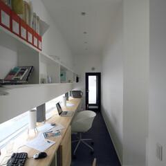 建築/住まい/建築デザイン/シンプル住宅/注文住宅 家の中のスモールオフィス 仙台のOUCH…